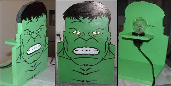 Lampe Hulk pour chevet/bureau