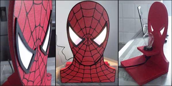 Lampe Spiderman chevet/bureau