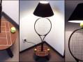 Lampe raquette de tennis