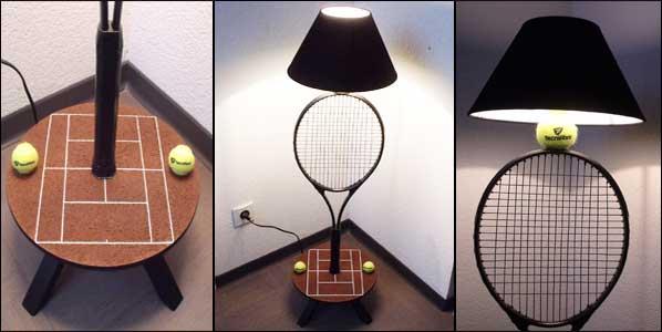 Lampe raquette de tennis artiste34 for Mesure terrain de tennis